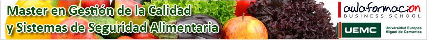 master calidad y seguridad alimentaria con prácticas garantizadas