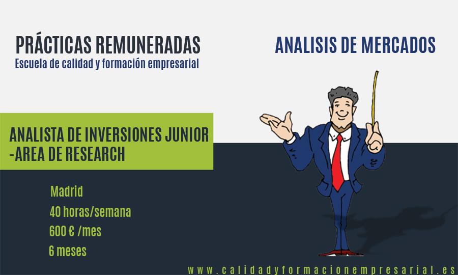 Prácticas remuneradas en empresa de asesoramiento y gestión de Inversiones para el Área de Research - Análisis de Mercado