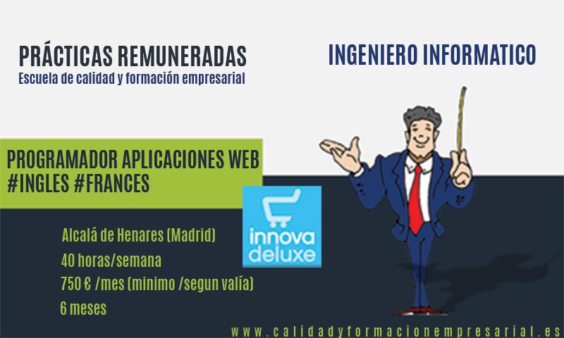 Práctica remunerada Programador aplicaciones web ecommerce con inglés o francés - Madrid