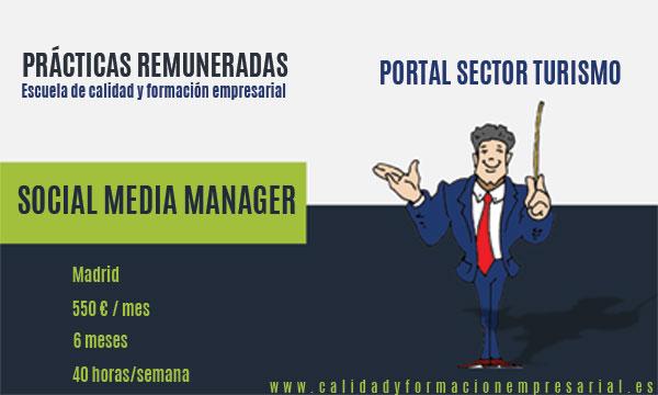 Prácticas remuneradas - Social Media Manager - Sector Turismo - Madrid